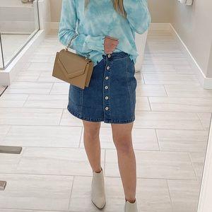 Dresses & Skirts - Button up denim skirt